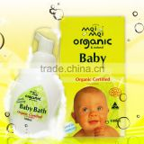 Mei Mei Organic Certified & Natural Baby Bath (180ml) Australian made - cleans thoroughly without drying the skin