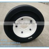 hot sale made in China trailer tyres 4.00-8 solid rubber tires and wheels with low price