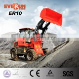 Everun Brand Mini Garden Wheel Loader With Grass Forks/ Auger/ Cutter Head