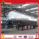 Tri-axle dry bulk cement tanker , cement bulker truck trailers with air compressor