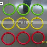 popular various colorful plastic locking ring