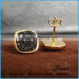Fancy stud earring latest fashion Accessories geode earrings