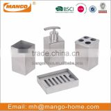 4pcs Square Stainless Steel Bathroom Set