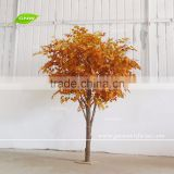 BTR161031-002 GNW 11ft high artificial red leaf plant maple wood trees sale for decoration