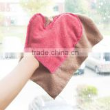 Hotselling Lint Free Streak Free Premium Professional Microfiber Glass Cleaning Cloth Microfiber Glass Cleaning Mitt with Hanger