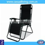 New Zero Gravity Chairs Lounge Patio Chairs Outdoor Yard Beach - black