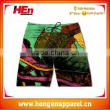 Hongen apparel Custom design Sublimation print Anti-Uv board shorts Fashion Design Sexy Women Board Shorts