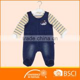 Baby Two Pieces Set T Shirt And Denim Overall Clothing