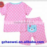 Baby Children clothing set, t-shirts girls boys t shirt+pants undershirt Shorts,kids pajama set