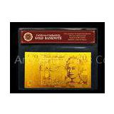 20 Pound British , 24K GOLD Engrave BANKNOTE with COA gold paper money