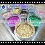 Yiwu Factory Direct Sales Nail Art Polyester Glitter Hexagon Glitter Powder