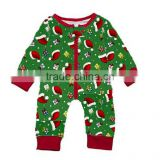 Yawoo fashion wholesale kids girls long sleeve Christmas romper infant baby one-piece bodysuit sleepwear gown toddler jumpsuit