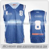 wholesale basketball uniform design green/ white and blue basketball jersey