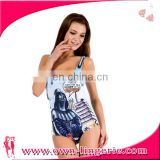 2016 New design blue open hot sexy girl photo muslim women swimwear