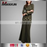 High Quality Newest Models Abaya Beautiful Embellished Malaysia Fashion Baju Kurung Muslim Women Dress