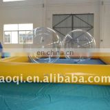 Germany zipper inflatable water ball/ zorbing ball