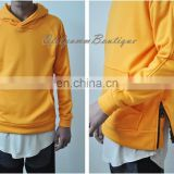 2017 Oversized Raglan Side Zip Hoodie Orange / Men's Essential Long Sleeve Side Black Zip Hoodie BM Biker Kangaroo KANYEWEST