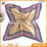 high quality Turkish scarf bandana style silk scarf 90x90