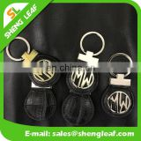 2017 NEW design popular custom leather keychains car keyrings