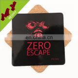 China Factory outlet blank wood coaster with cork