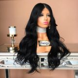 Full lace wig pre plucked hair line Brazilian virgin hair natural wave baby hair free style human hair