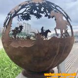 Garden Stainless Steel Sculpture Stainless Steel Outdoor Sculpture Surface Electroplating
