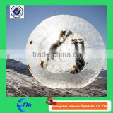 inflatable1.0mm thickness pvc/tpu durable frostproof zorb ball, human sphere zorbing for kids and adults for sale