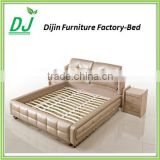 2015 Popular UK Style Top-Selling Modern Beautiful Cheap Latest Design Metal Bed Frame Single/Double Wood Slat