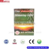 GMP natural weight loss product Chinese natural herbs coffee, instant green coffee