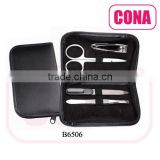 4pcs manicure set in a zipper bag(nail clipper,cuticle scissor,nail file,tweezer)