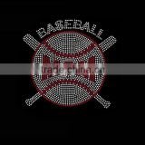 Crystal wholesale baseball mom iron on rhinestone transfer