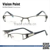 Half-rim Metal High Class Fashion Cheap Plastic Glasses Frames Spectacles Glasses Frames