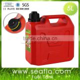 High Density Polyethylene Oil Can SEAFLO 5L 1.3 Gallon Plastic Portable Fuel Tank For Tractor