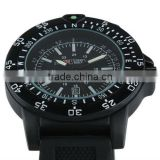 New Swiss Design Mens Black Dial Military Functional Bezel Army Watch MR063