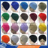 Wholesale 2016 fashion muslim hijab cap ,arabic style Big satin bonnet turban