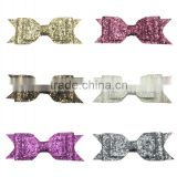 Fashion Girls bow headband boutique shiny sequin baby hair accessories                                                                                                         Supplier's Choice