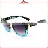 Laura Fairy China Brand Sales Promotion Plastic Metal Blue Frame Sunglasses For Women                                                                         Quality Choice