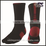 Custom new design cheap knitted terry high quality outdoor comfortable colored elite sport socks men custom logo wholesale socks