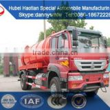 SINOTRUK sewage suction tanker truck fecal tank transport truck for sale high presure cleaning