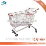 2015 Hot sale, upscale European Type Shopping Trolley/cart PVC/PU/TPR material wheels with coins lock