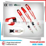 Wholesale promotional Keychain, ID Badge, cell phone holder,neck Tag camera Detachable elastic Lanyard                                                                                                         Supplier's Choice