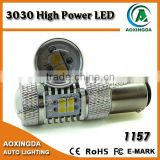 2016 newest 3030 high power series LED S25 1157 BAY15D car bulb with projector