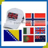 manufacturer customized Self-adhesive Embroidery flag Patches for baseball caps clothing