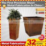 Corten Steel Rectangular Flower Planter with Traditional Complement                                                                         Quality Choice