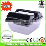 ETL DLC listed 350w led mental halide replacement 120w led canopy light with 3 years warranty