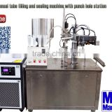 MICmachinery MIC-R60 with Commissioning engineer term manual tube filling machine with punch hole station
