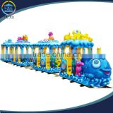 kids outdoor playground Mini train with track for sale