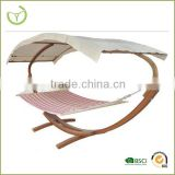 Popular selling Imported pine and canvas hammock stand with canopy/wooden hammock with canopy