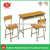 High Quality Plywood with Laminated Board Double Study Tables and Chairs School Sets for students