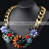 2016 Statement big flower pendant necklace costume jewelry for women
